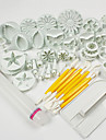 1 Set Of 46 Pcs Haute qualite / Cake Decorating / Baking Outil / Mode / Bricolage Gateau / Petit gateau / Chocolat / Cupcake ABS