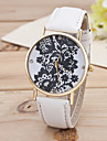 Women\'s Multicolor Black Flower Gold Shell Belt Fashion In Geneva Quartz Watch