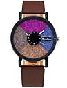 아가씨들 패션 시계 손목 시계 캐쥬얼 시계 / 석영 PU 밴드 캐쥬얼 멋진 블랙 화이트 레드 브라운 그린