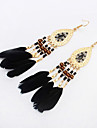 High Quality Fashion Bohemia Earrings Jewelry 2016 Women\'s Trendy Long Earrings Boho Feather Earrings