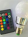 Ac85-265v 3w e26 / e27 rgb telecommande decoloration led ampoules intelligentes1pc