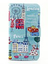 City View Pattern PU Leather Full Body Case with Stand and Card Slot for Wiko Lenny 2 Lenny 3 Sunset 2