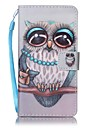 For Sony Xperia E5 XA Owl Painted Card Stent PU Leather Mobile Phone Holster Phone Case