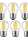 kwb 6 Pcs 5W E26/E27 LED Filament Bulbs G45 6 COB 550 lm Warm White Decorative(220-240V)