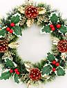 Рождественский венок 1 цвета хвои рождественские украшения для домашнего диаметра партия 30см NAVIDAD новые поставки год