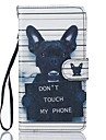 Para samsung galaxy j5 j5 (2016) bolsa dog pu leather wallet