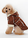 Dog Hoodie Red / Brown / Coffee Dog Clothes Winter Britsh Sports / Fashion / Casual/Daily /