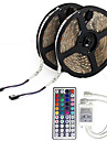 10M 5050 RGB LED Strip Flexible Light LED Ribbon String Lights Nao impermeavel DC 12V 600LEDs com 44Key IR Remote Controller Kit