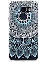 Pour samsung galaxy a310 a510 motif de dentelle bleue tpu boitier de telephone souple translucide a haute purete