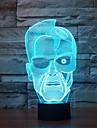 Шварцнеггер коснитесь затемнением 3D LED ночь свет 7colorful украшения атмосфера новизны светильника освещения свет рождества