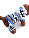 Cat / Dog Outfits / Hoodie / Pajamas Blue / Brown / Pink / Gray Dog Clothes Winter Snowflake Keep Warm / Christmas