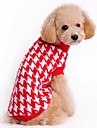 Cat / Dog Sweater Red / Black Dog Clothes Winter Stripe Cute / Casual/Daily / Christmas