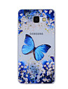 For Samsung Galaxy A8(2016) A8 A7 A5 A3 A510 A310 Case Cover Blue Butterfly Painted Pattern TPU Material Phone Case