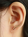 Stud Earrings Ear Cuffs Fashion Elegant Leaf Wings / Feather Silver Golden Jewelry For Daily Casual 1 pair
