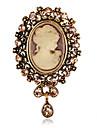 mode alliage retro / strass goutte d\'eau broches broches du parti des femmes / jour clips echarpe bijoux accessoire 1pc