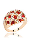Ring Rhinestone Rhinestone Silver Plated Gold Plated Alloy Gold Silver Jewelry Daily Casual 1pc
