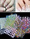 30pcs Sticker Manucure  Autocollants 3D pour ongles Maquillage cosmetique Manucure Design