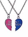 Ожерелье Без камня Браслеты Дружбы Медальоны Ожерелья Кулоны Цепочка Бижутерия Повседневные СпортС логотипом Сердце Панк Регулируется По