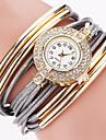 Women\'s Fashion Watch Wrist watch Bracelet Watch Punk Colorful Imitation Diamond Rhinestone Quartz PU BandVintage Sparkle Candy color Strap Watch