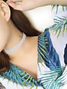 Women Fashion Personality Popular Tide Female Rhinestone Choker Crystal Short Necklace (1 cm wide) 1pc