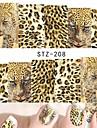 1 Nail Art Sticker Decalques de transferencia de agua maquiagem Cosmeticos Prego Design Arte