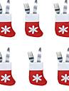 6PCS Christmas Socks Cutlery Tray Little Socks