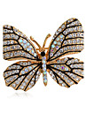 Women\'s Fashion Alloy/Rhinestone Brooches Chic Pin Party/Daily/Casual Butterfly Shape Jewelry Accessory 1pc