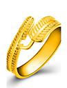 Кольцо Бижутерия Золотистый В форме листа Золотой Бижутерия Свадьба Для вечеринок Повседневные 1шт