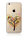 Pour Coque iPhone 7 Coque iPhone 6 Coque iPhone 5 Transparente Motif Coque Coque Arriere Coque Arbre Flexible PUT pour AppleiPhone 7 Plus