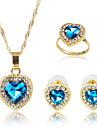 Бижутерия 1 ожерелье / 1 пара сережек / Кольца Имитация Sapphire Для вечеринок / Повседневные 1 комплект Женский Синий Свадебные подарки