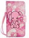 모토로라 모토 g4 플레이 g4 케이스 커버 분홍 코끼리 그린 끈 pu 전화 케이스