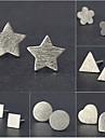 Без камня Серьги-гвоздики Серьги-кольца Бижутерия Женский Сердце Свадьба Для вечеринок Повседневные Серебрянное покрытие 1 параЗолотой