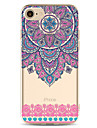 Para Capinha iPhone 7 Capinha iPhone 7 Plus Capinha iPhone 6 Case Tampa Estampada Capa Traseira Capinha Flor Macia PUT para AppleiPhone 7
