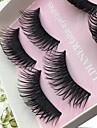 Cilios Cilios Tiras Completas de Cilios Olhos Grossa Pestanas Levantadas Volumizado Confeccionada a Mao Fibra Banda Preta 0.10mm 15mm