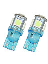 2x iceblue t10 5SMD 5050 LED voiture dome licence carte lumiere W5W 158 192 194 168