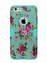 Flower Pattern Colour Printing Shockproof Three in One Cover Case for iPhone 6 6 Plus