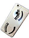 iphone6에 대한 속눈썹 패턴 TPU 투명한 소프트 쉘 전화 케이스 백 커버 케이스 플러스