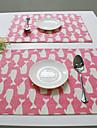 Rectangulaire Imprime Avec motifs Sets de table , Coton melange Materiel Hotel Dining Table Tableau Dceoration