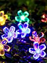 6.5m 50 персиковый цвет солнечной энергии лампа Рождество Хэллоуин декоративные огни праздничной полосы огни