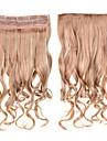 clipe encaracolado em extensoes do cabelo 1pc 60cm 24inch posticos # 18/613 cor misturada enrolar extensoes sinteticos longos cabelos