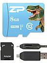 ZP 8GB MicroSD Classe 10 80 Outro Leitor de Cartao Tudo-em-Um Leitor de Cartao Micro SD Leitor de Cartao SD ZP-1 USB 2.0