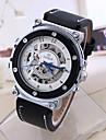 Hombre Mujer Reloj Deportivo Reloj de Vestir Reloj de Moda Cuerda Automatica Calendario Esfera Grande Cuero Autentico Banda Cosecha Casual