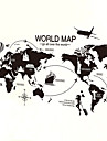 Wall Stickers Wall Decals Style Creative World Map PVC Wall Stickers