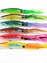 Lot 6Pcs 14 cm 40g Squid Fishing Lure Minnow Hard Bait 1/0# Hook Fishing Tackle Lure 3D eyes Top Quality