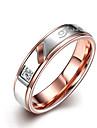 Кольца Без камня Свадьба Для вечеринок Повседневные Бижутерия Нержавеющая сталь Пара Кольцо 1шт,6 7 8 9 10 Розовое золото