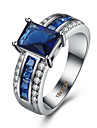 Ring AAA Cubic Zirconia Zircon Copper Titanium Steel Simulated Diamond Blue Jewelry Daily Casual 1pc