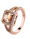 Ring AAA Cubic Zirconia Zircon Cubic Zirconia Alloy Simple Style Fashion Silver Pink Golden Champagne Jewelry Casual 1pc