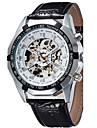 남성용 스포츠 시계 드레스 시계 패션 시계 손목 시계 기계식 시계 오토메틱 셀프-윈딩 천연 가죽 밴드 참 캐쥬얼 멀티컬러