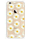 Pour Ultrafine Motif Coque Coque Arriere Coque Fleur Flexible PUT pour Apple iPhone 7 Plus iPhone 7 iPhone 6s Plus/6 Plus iPhone 6s/6