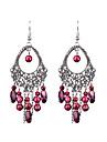 Retro Long Hollow Oval Handmade Beads Earrings